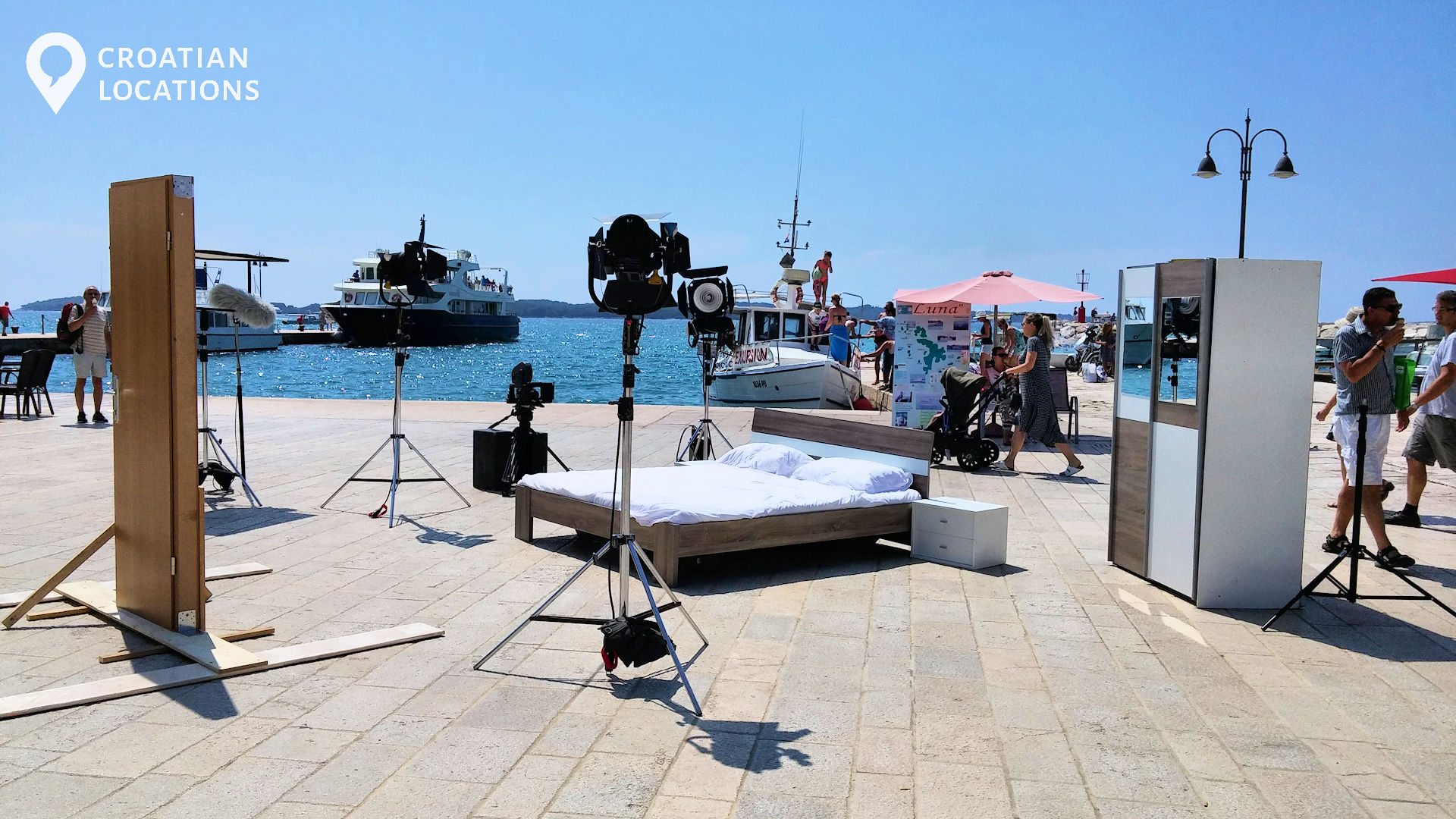 Filming a feature film on one of locations in Croatia