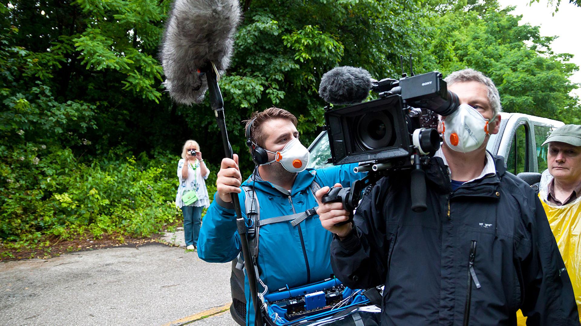 Filming a documentary in Croatia